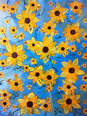 Sonflowers Painting - Seeds Sown by Sheila Yackley Prophetic Pieces