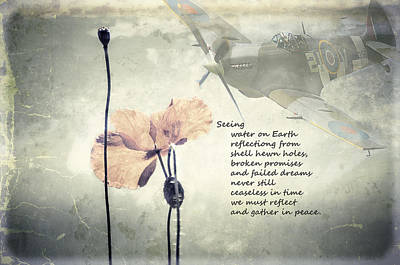 Rememberance Digital Art - Seeing. A Poem Of Remembrance  by Spikey Mouse Photography