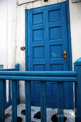 Photograph - Seeing Blue In Mykonos by John Rizzuto
