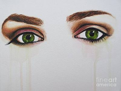 Painting - Seeing Into The Soul Serious by Malinda  Prudhomme