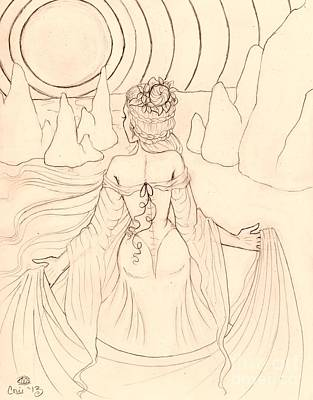 Seeing Spirits Sketch Art Print by Coriander  Shea
