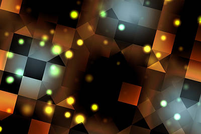 Dancefloor Digital Art - Seeing Spots by Hakon Soreide