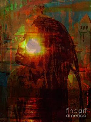 Faniart Africa America Mixed Media - Seeing The Light by Fania Simon