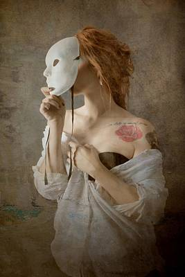 Rose Portrait Photograph - Seeing Through The Mask by Olga Mest
