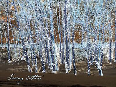 Teton Digital Art - Seeing Within by Barbara Bitner