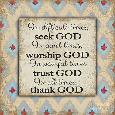 Seek God Original by Jean Plout
