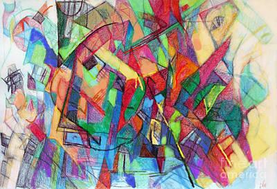 Inner Self Digital Art - Seeker Being Sought 1b by David Baruch Wolk