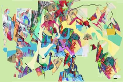 Inner Self Digital Art - Seeker Being Sought 1c by David Baruch Wolk