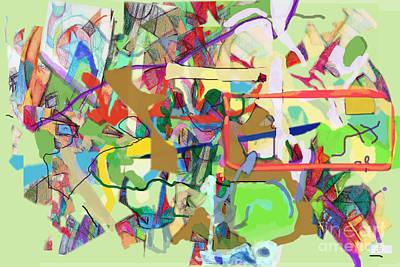 Inner Self Digital Art - Seeker Being Sought 1e by David Baruch Wolk