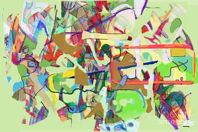 Inner Self Digital Art - Seeker Being Sought 1f by David Baruch Wolk