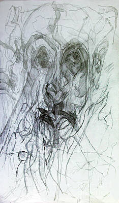 Creativity Drawing - Seeker Being Sought by David Baruch Wolk
