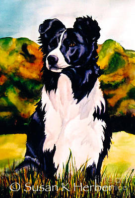 Scottish Dog Painting - Seeker by Susan Herber
