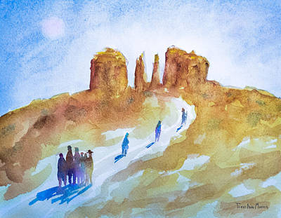 Seekers At Cathedral Rock Art Print