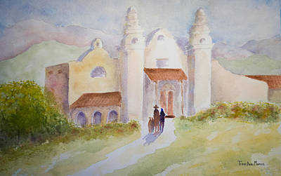 Painting - Seekers At The Mission by Terry Ann Morris