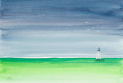 Seeking Refuge Before The Storm Alligator Reef Lighthouse Original by Michelle Wiarda