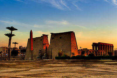 Photograph - Seeking The Ancient Ruins Of Thebes In Luxor by Mark E Tisdale
