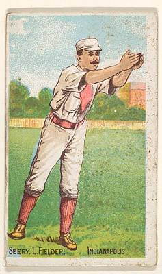 Baseball Drawings Drawings Drawing - Seery, Left Field, Indianapolis by D. Buchner & Co., New York