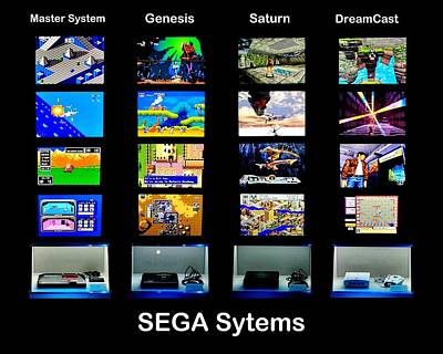 Photograph - Sega Systems by Benjamin Yeager