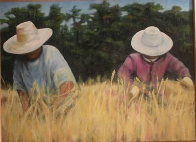 Campesinos Painting - Segadores by Lu Pellegrini
