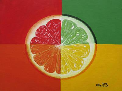 Grapefruit Painting - Segmented by Kayleigh Semeniuk