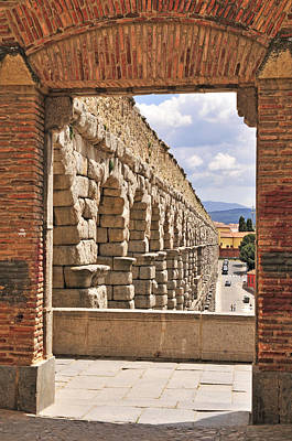Photograph - Segovia Aquaduct by Angela Bonilla