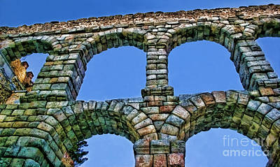 Photograph - Segovia Aqueducts Blue By Diana Sainz by Diana Raquel Sainz