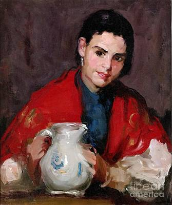 Pitcher Painting - Segovia Girl With Pitcher by Pg Reproductions