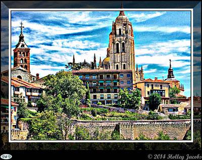 Digital Art - Segovia by Holley Jacobs
