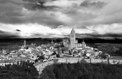 Segovia In Black And White Art Print by Lorraine Devon Wilke