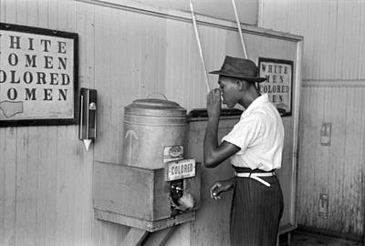 Terminal Photograph - Segregated Drinking Cooler by Russell Lee