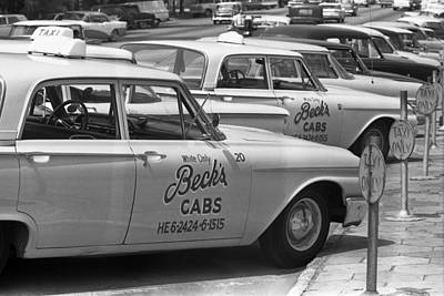 Segregated Taxi Cab Print by Warren Leffler