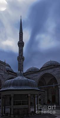 Sehzade Mosque At Night Art Print by Antony McAulay