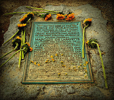 Military Bronze Photograph - Seige Of Yorktown Memorial by Stephen Stookey