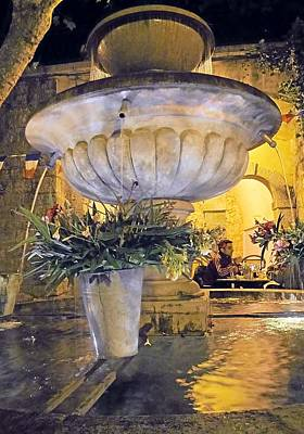 Photograph - Seillans Village Fountain by Lisa Boyd