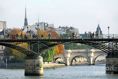 Seine Bridges In Paris Art Print by Elena Elisseeva