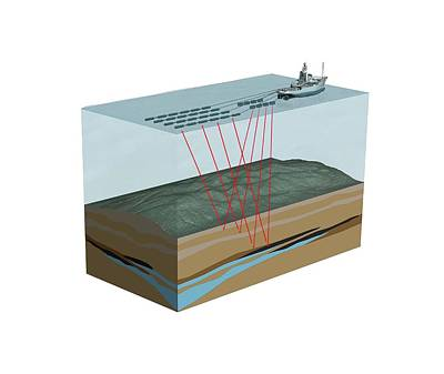 Seismic Imaging With Hydrophones Art Print by Mikkel Juul Jensen