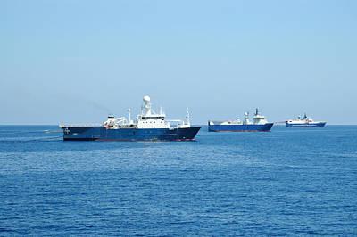 Photograph - Seismic Survey Fleet by Bradford Martin