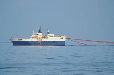 Photograph - Seismic Surveying Ship by Bradford Martin