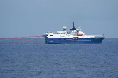 Photograph - Seismic Testing Ship by Bradford Martin