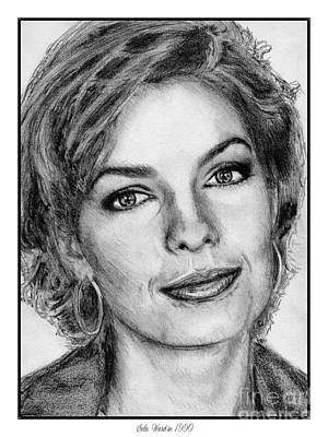 Drawing - Sela Ward In 1990 by J McCombie