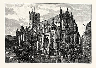 Selby Drawing - Selby Abbey, From The South East by English School