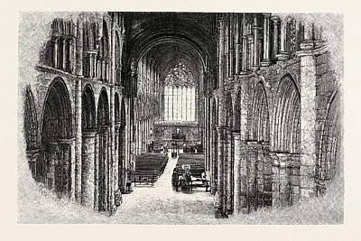 Selby Drawing - Selby The Nave And Choir by English School