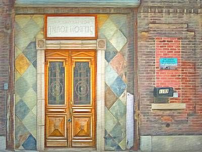 Backwards Painting - Seldom Found Entrance  by L Wright