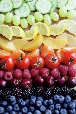Selection Of Fruit Art Print by Gustoimages