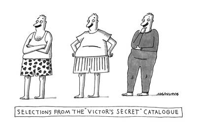 Selections From The Victor's Secret Catalogue Art Print by Mick Stevens