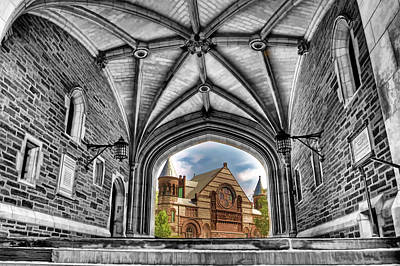 Brick Schools Painting - selective colors Princeton University by Geraldine Scull