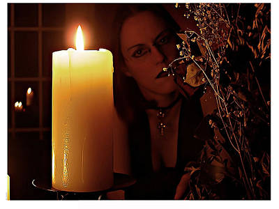 Photograph - Selena Candle Light And Dead Roses by Matt Nelson