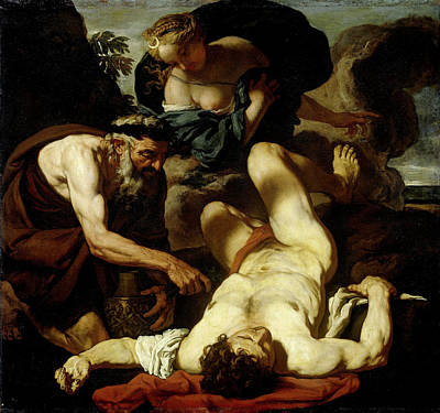 Selene And Endymion, Formerly Entitled The Death Of Orion Art Print by Litz Collection