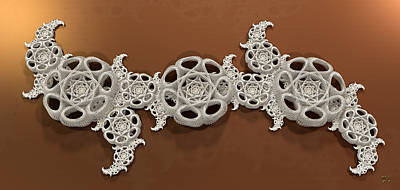 Digital Art - Selenic Fractal Artifact by Manny Lorenzo