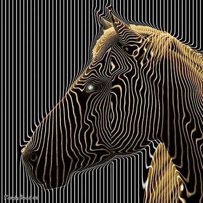 Self-conscious Attempt To Become Zebras.  2013  80/80 Cm.  Art Print by Tautvydas Davainis